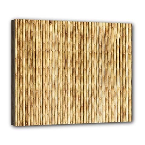 Light Beige Bamboo Deluxe Canvas 24  X 20   by trendistuff