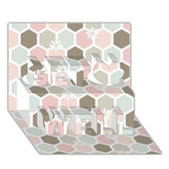 Spring Bee Get Well 3d Greeting Card (7x5)  by Kathrinlegg
