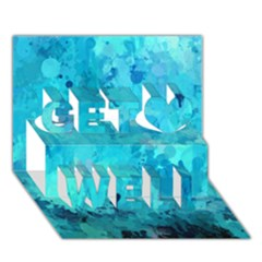 Splashes Of Color, Aqua Get Well 3d Greeting Card (7x5)  by MoreColorsinLife