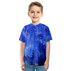 Splashes Of Color, Blue Kid s Sport Mesh Tees by MoreColorsinLife
