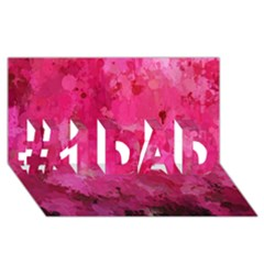 Splashes Of Color, Hot Pink #1 Dad 3d Greeting Card (8x4)  by MoreColorsinLife
