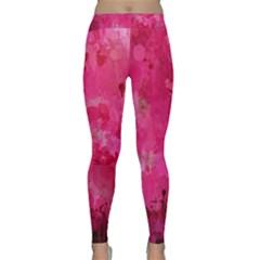 Splashes Of Color, Hot Pink Yoga Leggings by MoreColorsinLife