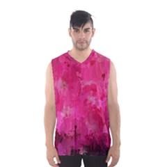 Splashes Of Color, Hot Pink Men s Basketball Tank Top
