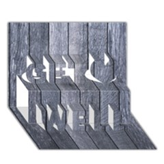Grey Fence Get Well 3d Greeting Card (7x5)  by trendistuff