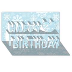 Frosty Happy Birthday 3d Greeting Card (8x4)  by Kathrinlegg