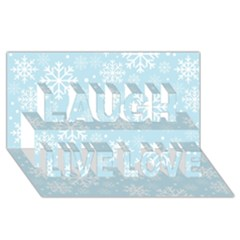 Frosty Laugh Live Love 3d Greeting Card (8x4)