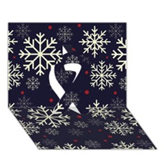 Snowflake Ribbon 3d Greeting Card (7x5)  by Kathrinlegg