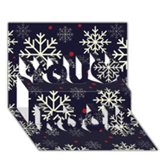 Snowflake You Rock 3d Greeting Card (7x5)  by Kathrinlegg