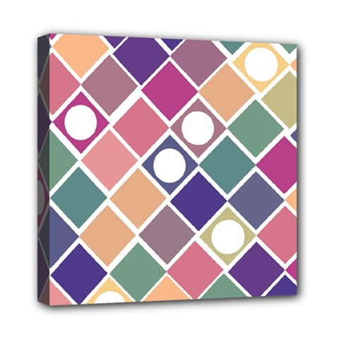 Dots And Squares Mini Canvas 8  X 8  by Kathrinlegg