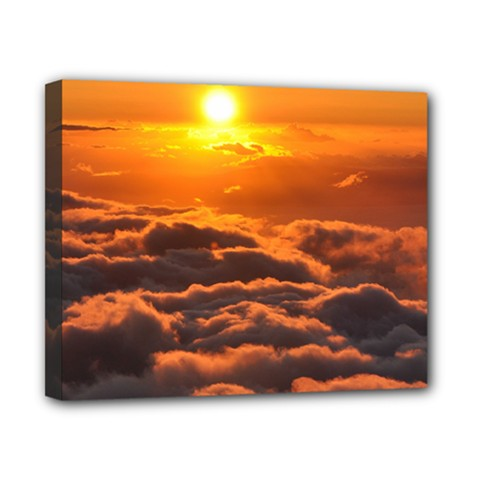 SUNSET OVER CLOUDS Canvas 10  x 8  by trendistuff