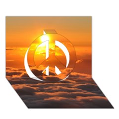 Sunset Over Clouds Peace Sign 3d Greeting Card (7x5)  by trendistuff