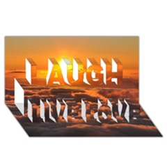 Sunset Over Clouds Laugh Live Love 3d Greeting Card (8x4)  by trendistuff