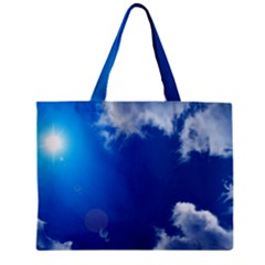 Sun Sky And Clouds Zipper Tiny Tote Bags by trendistuff