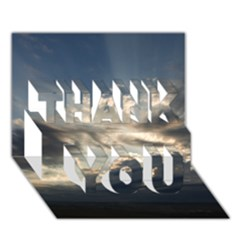 HEAVEN RAYS THANK YOU 3D Greeting Card (7x5)  by trendistuff