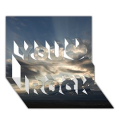 Heaven Rays You Rock 3d Greeting Card (7x5)
