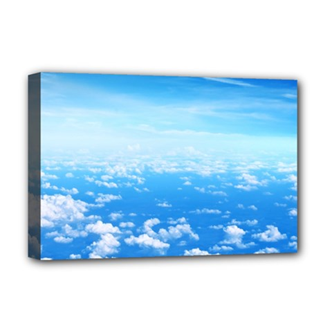 CLOUDS Deluxe Canvas 18  x 12   by trendistuff