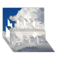 Big Fluffy Cloud Take Care 3d Greeting Card (7x5)  by trendistuff