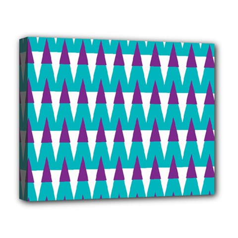 Peaks Pattern Deluxe Canvas 20  X 16  (stretched) by LalyLauraFLM