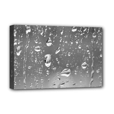 WATER DROPS 4 Deluxe Canvas 18  x 12   by trendistuff