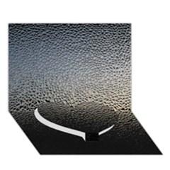 Water Drops 1 Heart Bottom 3d Greeting Card (7x5)  by trendistuff