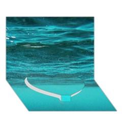 Underwater World Heart Bottom 3d Greeting Card (7x5)  by trendistuff