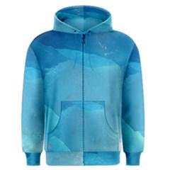 Light Turquoise Ice Men s Zipper Hoodies by trendistuff