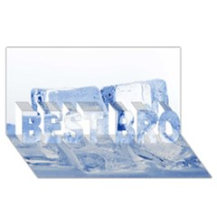 Ice Cubes Best Bro 3d Greeting Card (8x4)