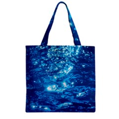 Light On Water Zipper Grocery Tote Bags by trendistuff