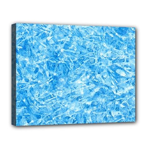 Blue Ice Crystals Canvas 14  X 11  by trendistuff