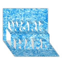 Blue Ice Crystals Work Hard 3d Greeting Card (7x5)  by trendistuff
