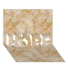 Tan Marble Hope 3d Greeting Card (7x5)  by trendistuff