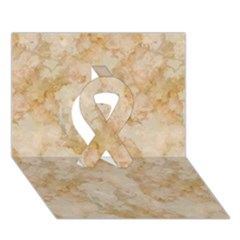 Tan Marble Ribbon 3d Greeting Card (7x5)  by trendistuff