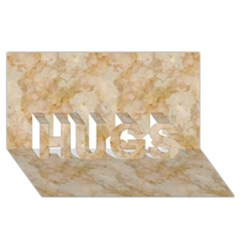 TAN MARBLE HUGS 3D Greeting Card (8x4)  by trendistuff