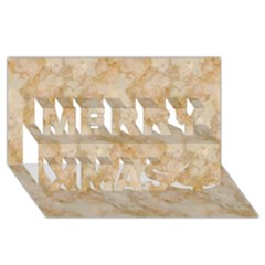 Tan Marble Merry Xmas 3d Greeting Card (8x4)  by trendistuff