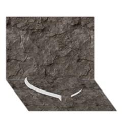 Stone Heart Bottom 3d Greeting Card (7x5)  by trendistuff