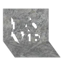 SILVER TRAVERTINE LOVE 3D Greeting Card (7x5)  by trendistuff