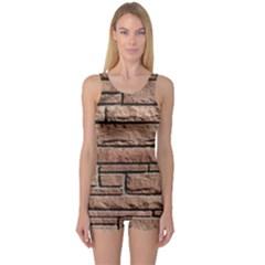 Sandstone Brick One Piece Boyleg Swimsuit by trendistuff