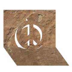 Sandstone Peace Sign 3d Greeting Card (7x5)  by trendistuff