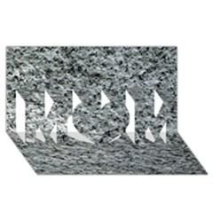 ROUGH GREY STONE MOM 3D Greeting Card (8x4)  by trendistuff