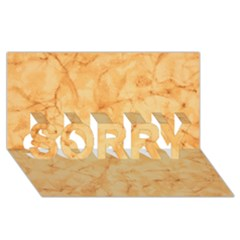 Marble Light Tan Sorry 3d Greeting Card (8x4)
