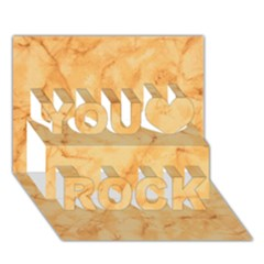 Marble Light Tan You Rock 3d Greeting Card (7x5)  by trendistuff