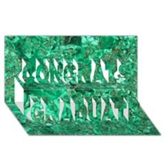 Marble Green Congrats Graduate 3d Greeting Card (8x4)  by trendistuff