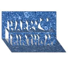 Marble Blue Happy Birthday 3d Greeting Card (8x4)  by trendistuff