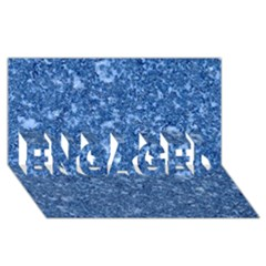 Marble Blue Engaged 3d Greeting Card (8x4)