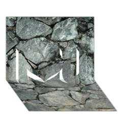 GREY STONE PILE I Love You 3D Greeting Card (7x5)