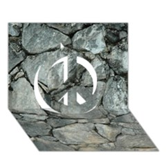 Grey Stone Pile Peace Sign 3d Greeting Card (7x5)  by trendistuff