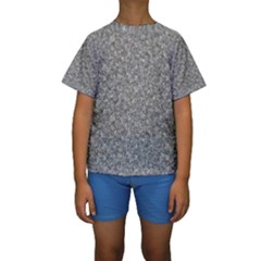 GREY MARBLE Kid s Short Sleeve Swimwear by trendistuff