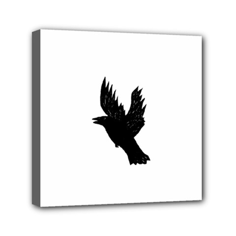 Hovering crow Mini Canvas 6  x 6  by JDDesigns