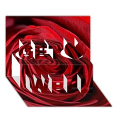Beautifully Red Get Well 3d Greeting Card (7x5)