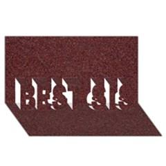 Granite Red 1 Best Sis 3d Greeting Card (8x4)  by trendistuff